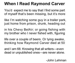 When I Read Raymond Carve1